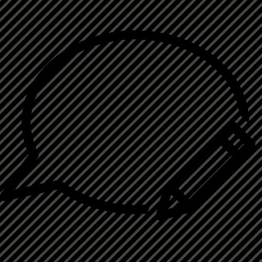 Bubble, chat, conversation, edit, message, pen, write icon - Download on Iconfinder