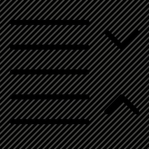 content, decrease, editor, line, paragraph, spacing, text icon