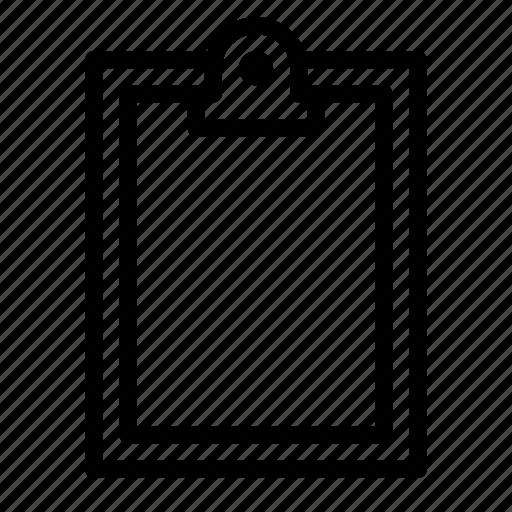 clipboard, content, copy, editor, empty, paper, work icon