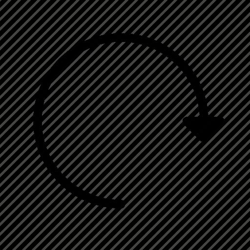 arrow, content, edit, editor, redo, reload icon