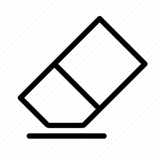 clean, clear, design, editor, eraser, school, tool icon
