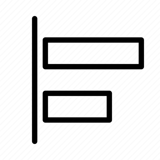 align, arrange, design, graphic, left, tool icon