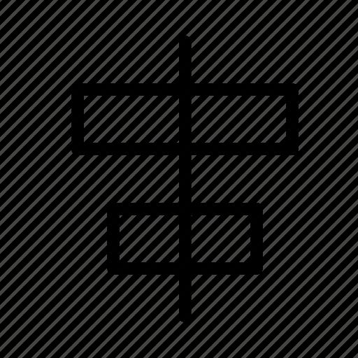 align, arrange, design, graphic, horizontally, tool icon