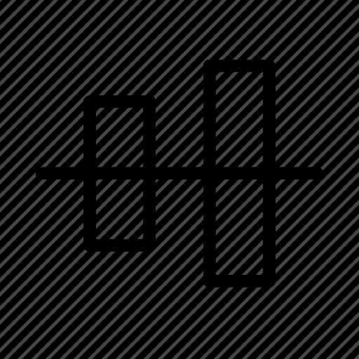 align, arrange, design, graphic, tool, vertically icon