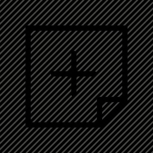 add, design, graphic, layer, new, note, plus icon