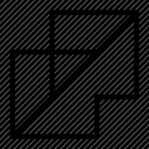 design, flatten, graphic, layers, merge, tool icon