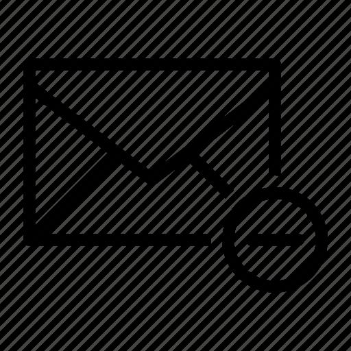 delete, email, envelope, remove, send icon