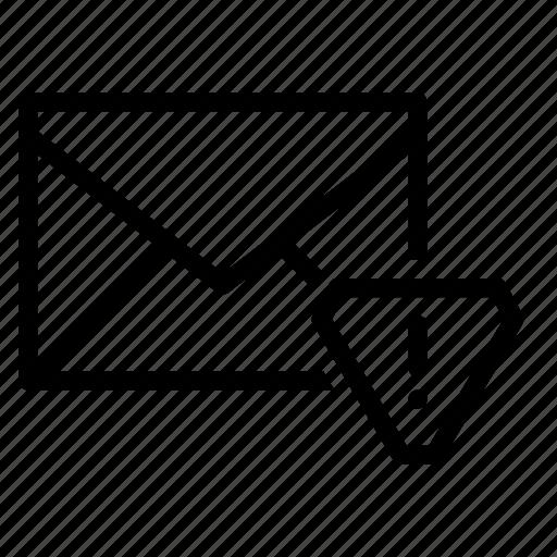 alert, email, envelope, send, warning icon
