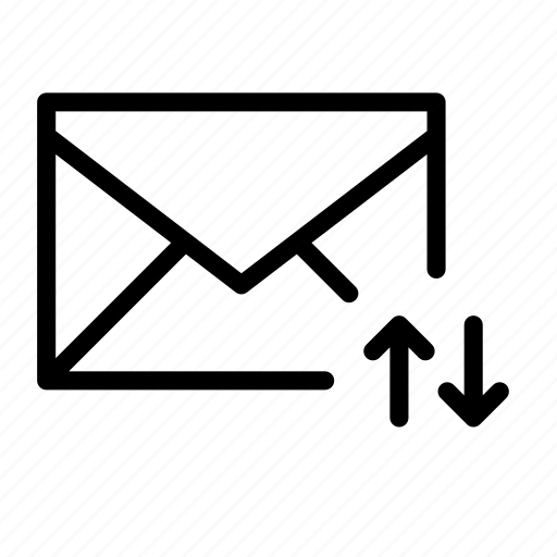 arrow, email, envelope, fetch, send, sync icon