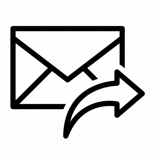 arrow, email, envelope, reply, send icon