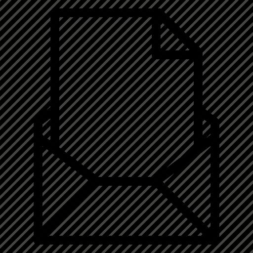 attachment, document, email, empty, file, send icon