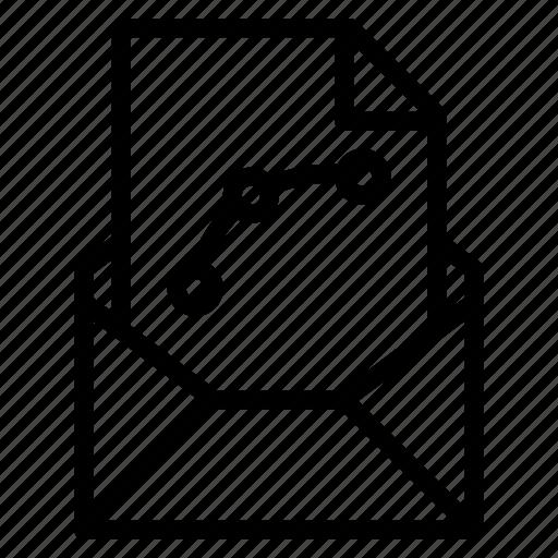 attachment, design, email, file, send, vector icon