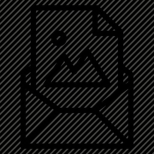 attachment, email, file, image, jpg, photo, send icon