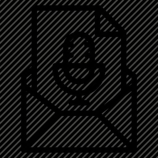 attachment, audio, email, file, music, send, sound icon