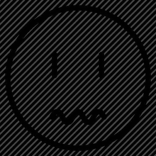 avatar, emoticon, emotion, expression, face, mood, scared icon