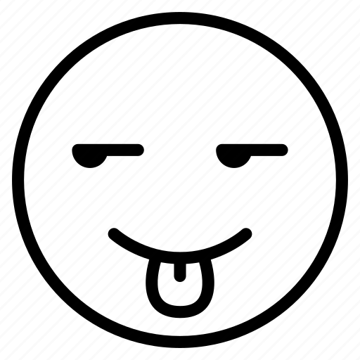emoticon, emotion, expression, face, mood, smile, tongue out icon