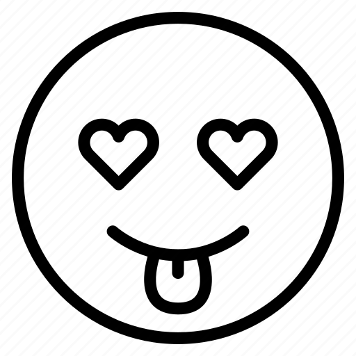 emoticon, emotion, expression, love, mood, smile, tongue out icon