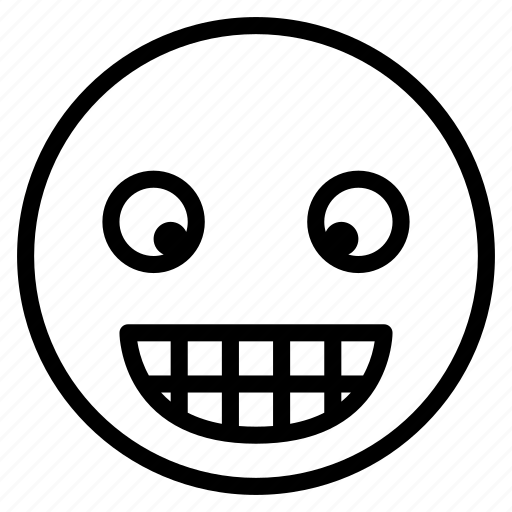 emoticon, emotion, expression, face, grin, mood, smile icon