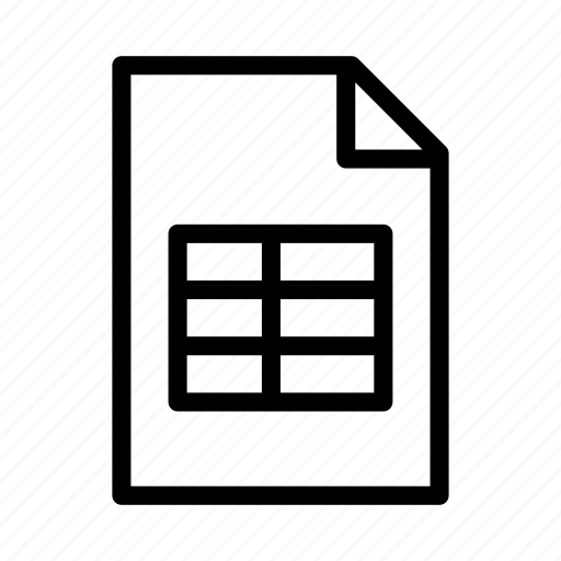 csv, data, document, file, spreadsheet, table, xsl icon