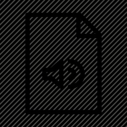 audio, document, file, mp3, music, paper, wma icon