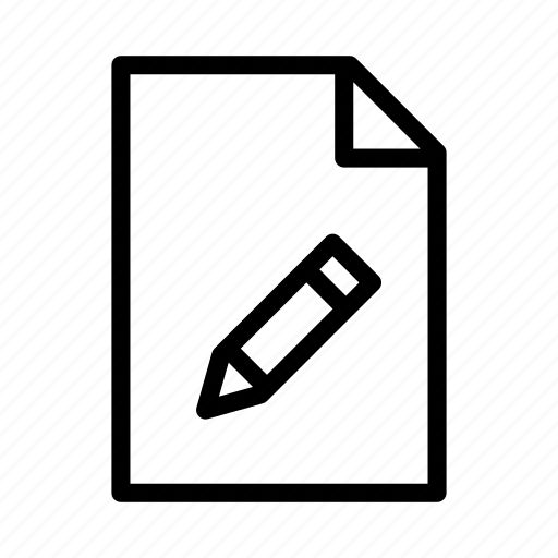 document, edit, file, paper, pen, text, write icon