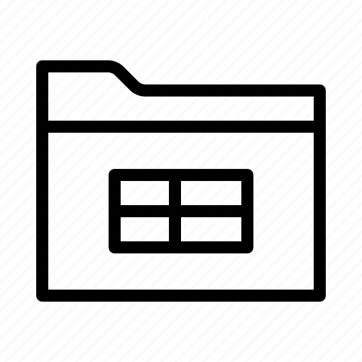 collection, csv, data, folder, group, spreadsheet, table icon