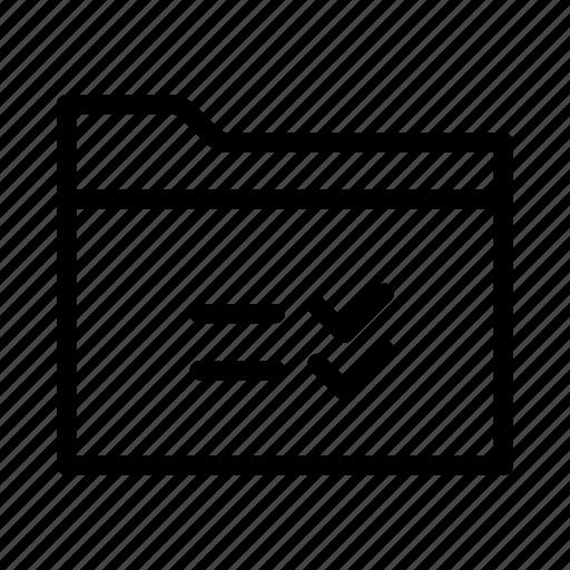 checklist, checkmark, collection, folder, group, reminder icon