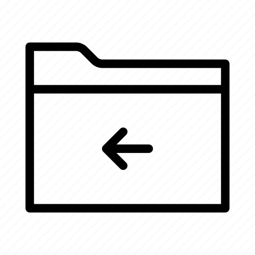 arrow, back, collection, folder, group, move icon