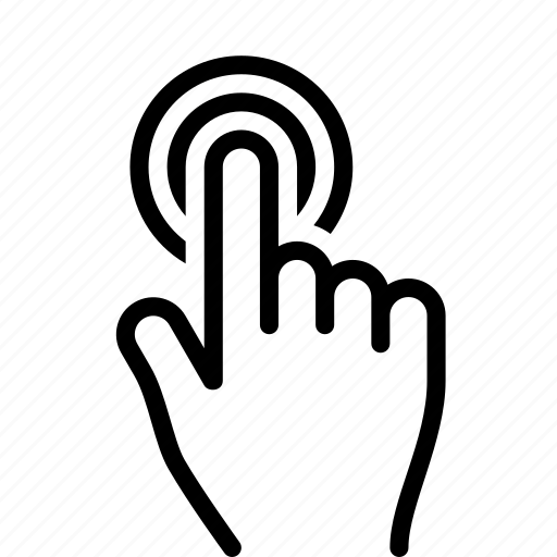 Tap, double, hand, finger, touch, gesture icon