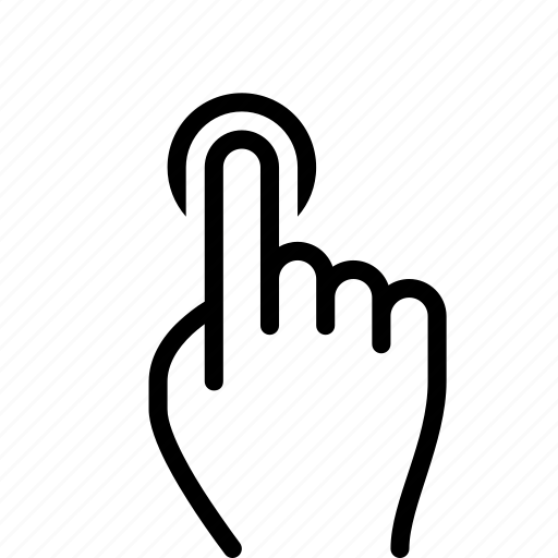 Finger, gesture, hand, tap, touch icon - Download on Iconfinder