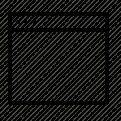 app, application, empty, interface, window icon