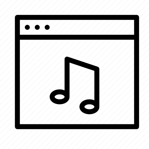 application, audio, interface, music, sound, window icon