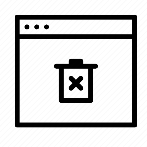 application, bin, delete, interface, recycle, trash, window icon