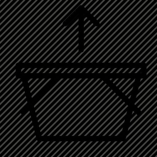 arrow, basket, buy, remove, shop, shopping icon