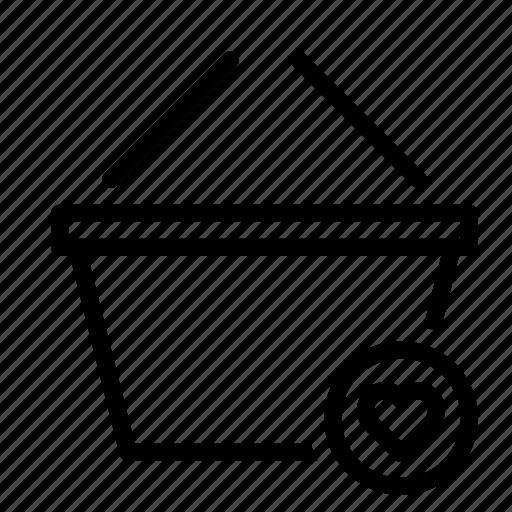basket, buy, favorite, heart, shop, shopping icon