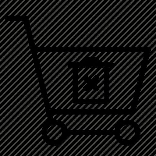 buy, cart, delete, shopping, trash, trolley icon
