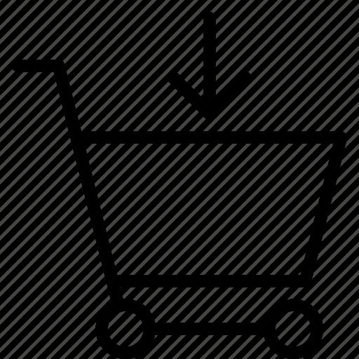 add, arrow, buy, cart, shopping, trolley icon
