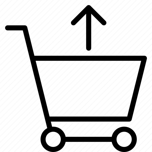 arrow, buy, cart, remove, shopping, trolley icon
