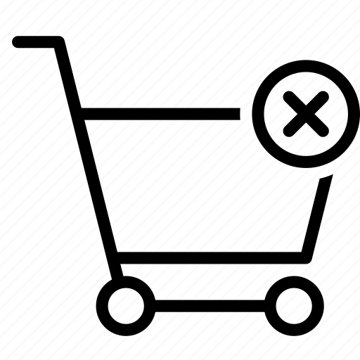 buy, cart, delete, remove, shopping, trolley icon