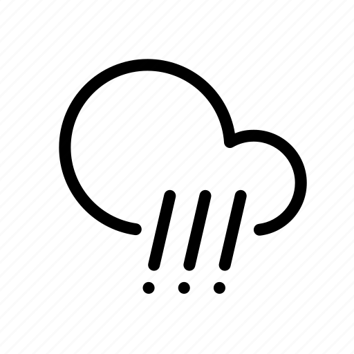 cloud, forecast, hail, rain, weather icon