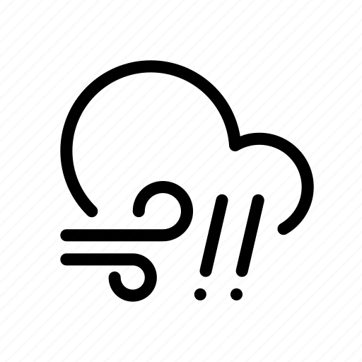 cloud, forecast, hail, rain, weather, wind icon