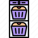 biscuit, food, lunch, muffin, package, snack, snacks icon