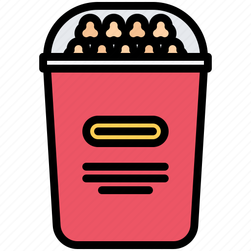 corn, food, glass, lunch, popcorn, snack, snacks icon
