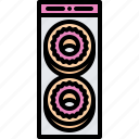 donut, food, lunch, package, snack, snacks icon