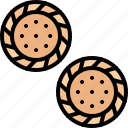 cookie, cracker, crackers, food, lunch, snack, snacks icon