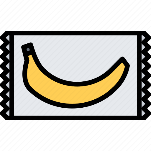 banana, food, lunch, package, snack, snacks icon