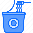 food, fork, instant, lunch, noodles, snack, snacks icon