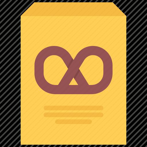 box, food, lunch, pretzel, snack, snacks icon