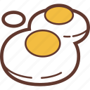 snacks, omelette, food icon