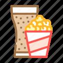 popcorn, snack, drink, glass, snacks, food